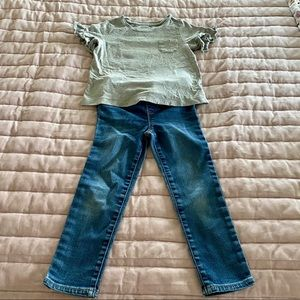 GAP kids jegging outfit, size 4T